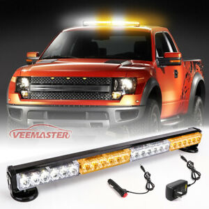 Led Emergency Warning Lights Red white Visor Strobe Light Bar With Suction Cups