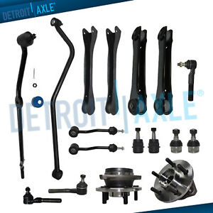 17pc Front Upper Lower Control Arm Tierod Kit For 2000 2006 Jeep Wrangler Tj 4wd