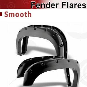 Fit 15 18 Chevy Colorado 74 Bed Pocket Riveted Smooth Fender Flares Wheel Cover