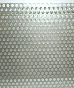 3 8 Hole 16 Gauge 304 Stainless Steel Perforated Sheet 12 X 20