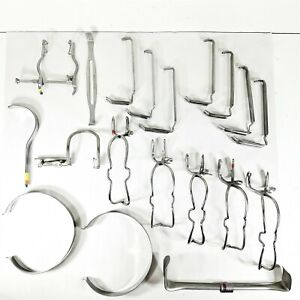 lot Of 19 Misc Surgical Retractor Gag Instruments V Mueller Aesculap More