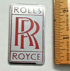 Rolls Royce Grill Badge Rare Red Version