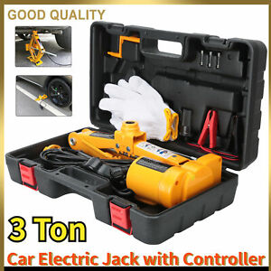 12v 3 Ton Automotive Electric Scissor Car Jack Lifting 1 2 Impact Wrench Tool