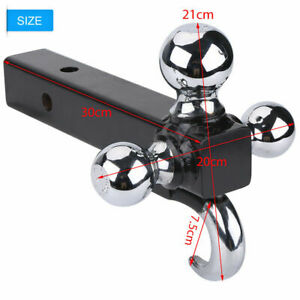 Triple Tri 3ball Trailer Hitch With Hook Receiver Mount 1 7 8 2 2 5 16 Towing