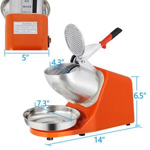 Electric Ice Shaver Machine Shaving Crusher Snow Cone Maker Stainless Steel