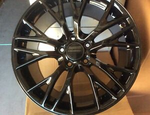 Corvette Zo6 Wheels C7 17 18 For Fits C5 1989 2004 Gloss Black