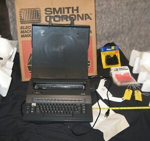 Smith Corona Portable Electric Typewriter In Original Box With Manual 1985