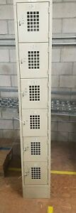 Employee Or Gym Lockers 6 Bay 14 W X 78 h Steel Qty Avail Local So Cal Pick Up