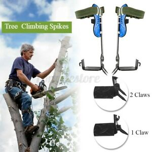 2 Gears Tree pole Climbing Spike Set Both Sides Safety Belt Lanyard Rope Tools U
