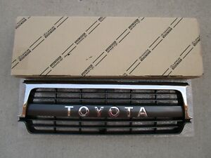 Fits 91 95 Toyota Land Cruiser Fj80 Fjz80 Front Radiatir Chrome Grille Oem New
