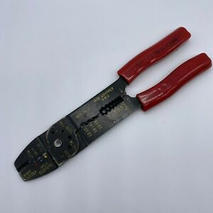 Gh Electrical Wire Stripper Crimping Pliers Wire Cutter Crimper Red Grip