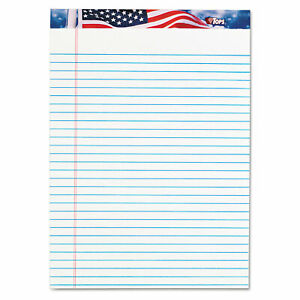 American Pride Writing Pad Wide legal Rule 8 5 X 11 75 White 50 Sheets 12 p