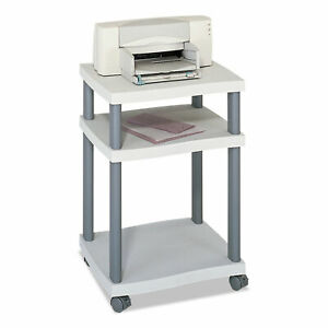 Wave Design Printer Stand Three shelf 20w X 17 5d X 29 25h Charcoal Gray
