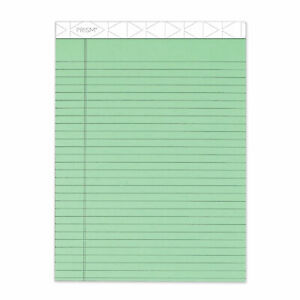 Prism Colored Writing Pad Wide legal Rule 8 5 X 11 75 Green 50 Sheets 12