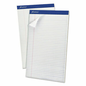 Perforated Writing Pads Wide legal Rule 8 5 X 14 White 50 Sheets Dozen