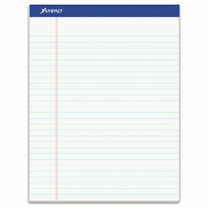 Recycled Writing Pads Wide legal Rule 8 5 X 11 75 White 50 Sheets Dozen
