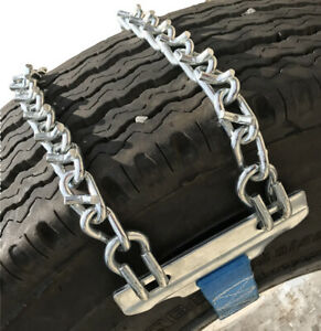 Snow Chains 11 22 5 11 22 5 V Bar Strap On Emergency Tire Chains