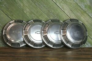 Vintage Chevy Chevrolet Dog Dish Hub Caps 50s 60s Old Classic Hot Rod Car Part