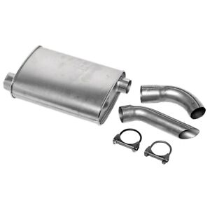 Dynomax 17757 Super Turbo Muffler 4 25 X 9 75 2 5 In Inlet 2 25 In Outlet