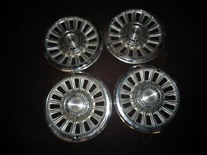 1965 Pontiac Gto Lemans Tempest 14 16 slot Slotted Wheel Covers Hubcaps 9780913