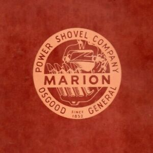Marion 372 Power Shovel General Operation And Maintenance Manual Oem Devilbiss
