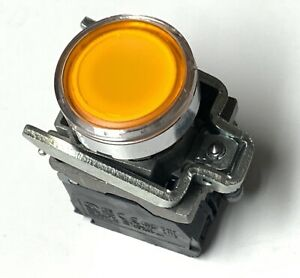 Schneider Electric Orange Led Momentary Push Button Switch Harmony Xb4 24v Ac dc