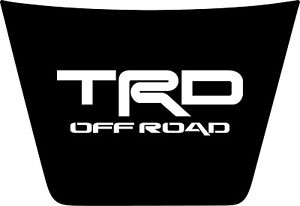 Hood Decal Blackout For A Trd Off Road 2014 2019 Toyota Tundra