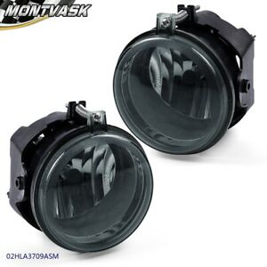 Pair Smoked Lens For Dodge Challenger Charger Bumper Driving Fog Light Lamps