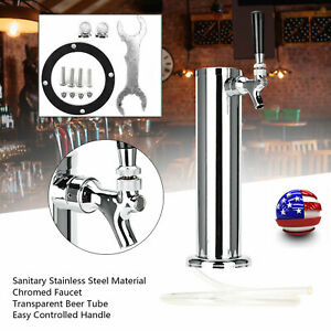 Stainless Steel 1 Tap Beer Faucet Draft Tower Bar Homebrew For Kegerator Usa