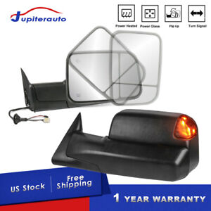 2pcs Power Heated Led Signal Towing Mirrors For 98 02 Dodge Ram 1500 3500 Lh rh
