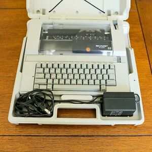 Sharp Pa3250 Electric Low Profile Intelliwriter Typewriter With Original Case