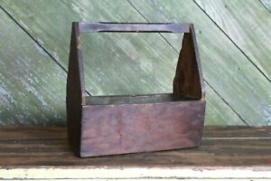 Vintage Primitive Wood Tool Tray Old Farm House Table Piece Decor