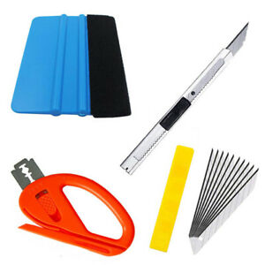 4x Car Vinyl Wrapping Tools Squeegee Applicator Kit Window Tint Film Install