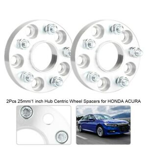25mm 1 Hub Centric Wheel Spacers For Honda Acura 5x114 3 64 1 12x1 5