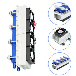 4 Chip Thermoelectric Peltier Refrigeration Water Cooling System Kit Cooler 288w