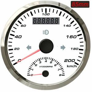 2 in 1 Gps Speedometer With Tachometer 200km h 8000rpm For Car Motorcycle Atv