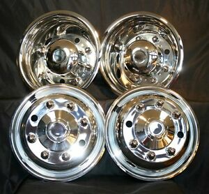 For Chevy 19 5 8 Lug C4500 C5500 C6500 Front And Rear Wheel Simulators Hubcaps