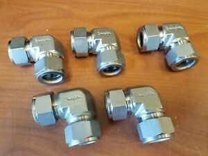 Lot Of 5 Swagelok Stainless Elbow Union Fitting 3 4 Tube X 3 4 Tube Ss 1210 9