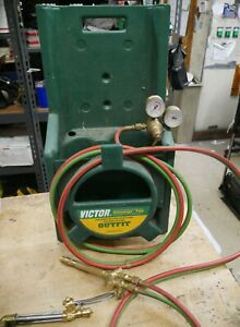 Victor Advantage Tote Portable Oxygen Acetylene Welding Cutting Outfit Pre Owned