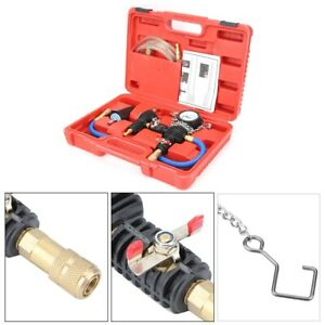 Vacuum Purge Cooling System Radiator Pressure Tester Refill Tool Kit With Case