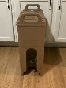 Cambro Beverage Dispenser Water Jug Coffee Drink Cooler Catering Brown Free Ship