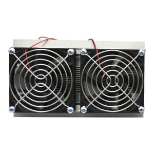 120w Thermoelectric Peltier Refrigeration Cooling System Kit Cooler 2 Fans N7o4