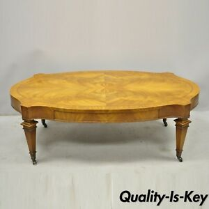 Heirloom Weiman Crotch Flame Mahogany Federal One Drawer Coffee Table