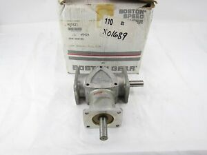 New Boston Gear Ra1521 Speed Reducer Right Angle Drive Worm Gear
