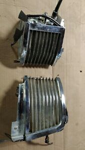 1965 Lincoln Continental Parking Light Left And Right Pair Fender Trim Bezel