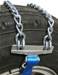Snow Chains 445 50r22 5 445 50 22 5 Strap Emergency Tire Chains Set Of 2