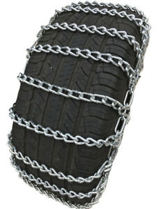 Snow Chains 245 65r17 245 65 17 2 Link Tire Chains W Spring Tensioners