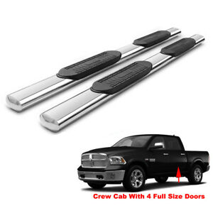 5 Side Step Nerf Bar Running Boards For 09 18 Ram 1500 10 18 2500 3500 Crew Cab