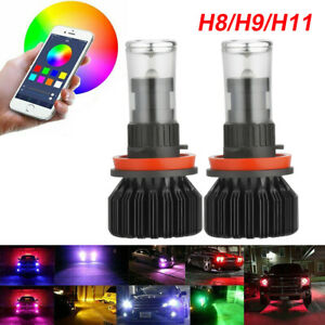 Phone Control Wireless Multi color H8 H11 H9 Led Fog Drl Light For Honda Civic