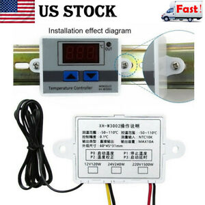 1x Digital Incubator Temperature Controller Thermostat Control With Switch Probe